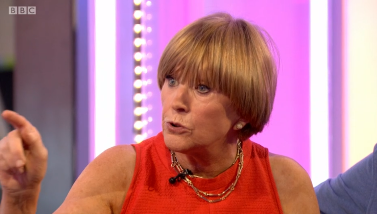 Anne Robinson on The One Show (Credit: BBC)