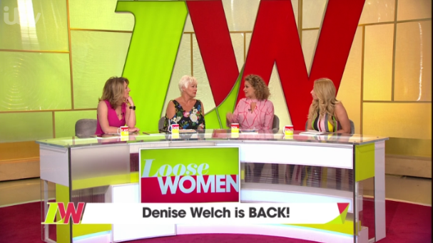 Denise Welch returns to Loose Women (Credit: ITV)