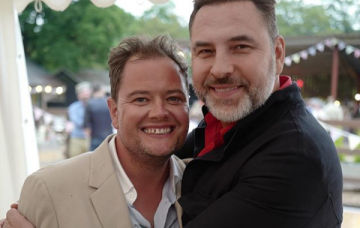 Pictures of Alan Carr and Paul Drayton's wedding party shared by David Walliams (Credit: Instagram)