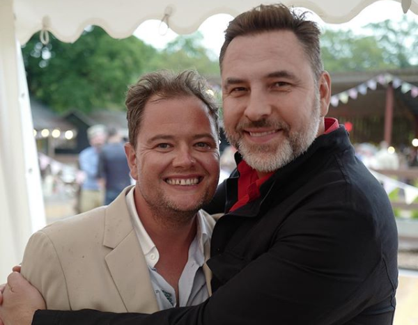 David Walliams shares pictures of Alan Carr's star-studded wedding party