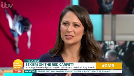 Nicola Thorp on Good Morning Britain (Credit: ITV)
