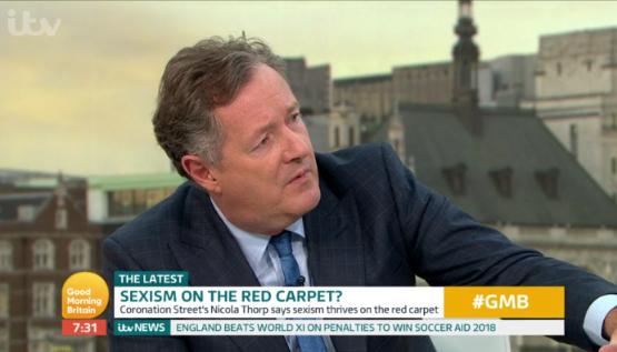 Piers Morgan on Good Morning Britain (Credit: ITV)