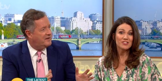 "Piers Morgan unimpressed with Susanna Reid's ""slovenly"" confession"