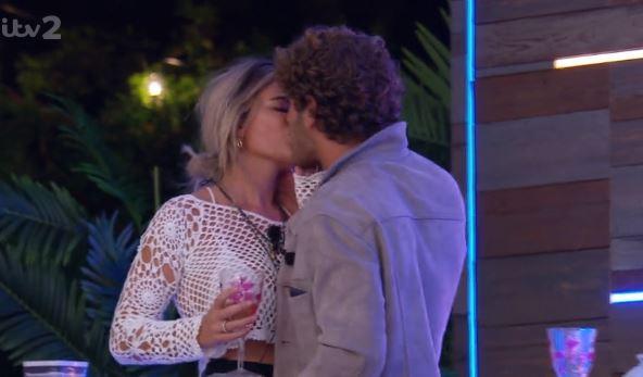Love Island's Eyal Booker kisses Megan Barton Hanson in front of Alex George