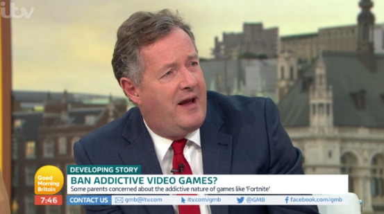 "Piers Morgan slams ""weak"" parents over child gaming addiction"