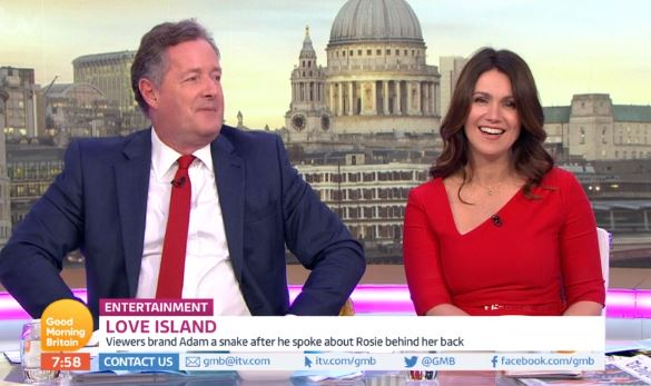 Piers Morgan vows to quit Good Morning Britain if Susanna Reid calls him 'babe'