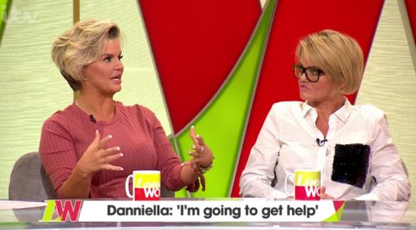 Kerry Katona and Danniella Westbrook on Loose Women (Credit: ITV)