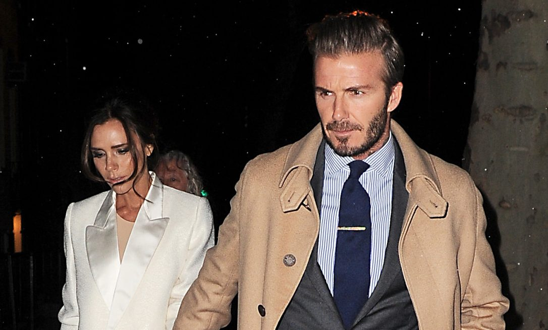 David and Victoria Beckham cuddle up for sweet photo at family dinner
