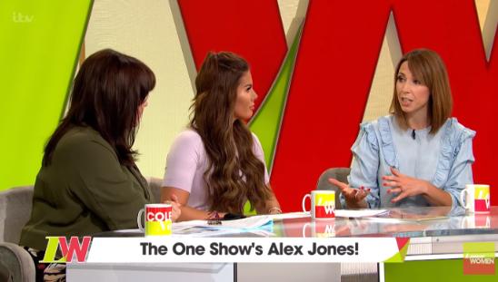 Alex Jones on Loose Women (Credit: ITV)