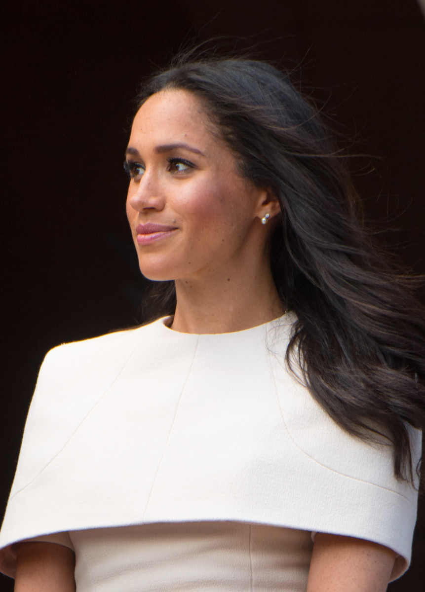Queen Elizabeth II and Meghan, the Duchess of Sussex visit Chester Town Hall during a one day visit to Cheshire