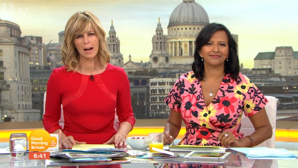 GMB hosts shocked as guest unzips trousers live on air