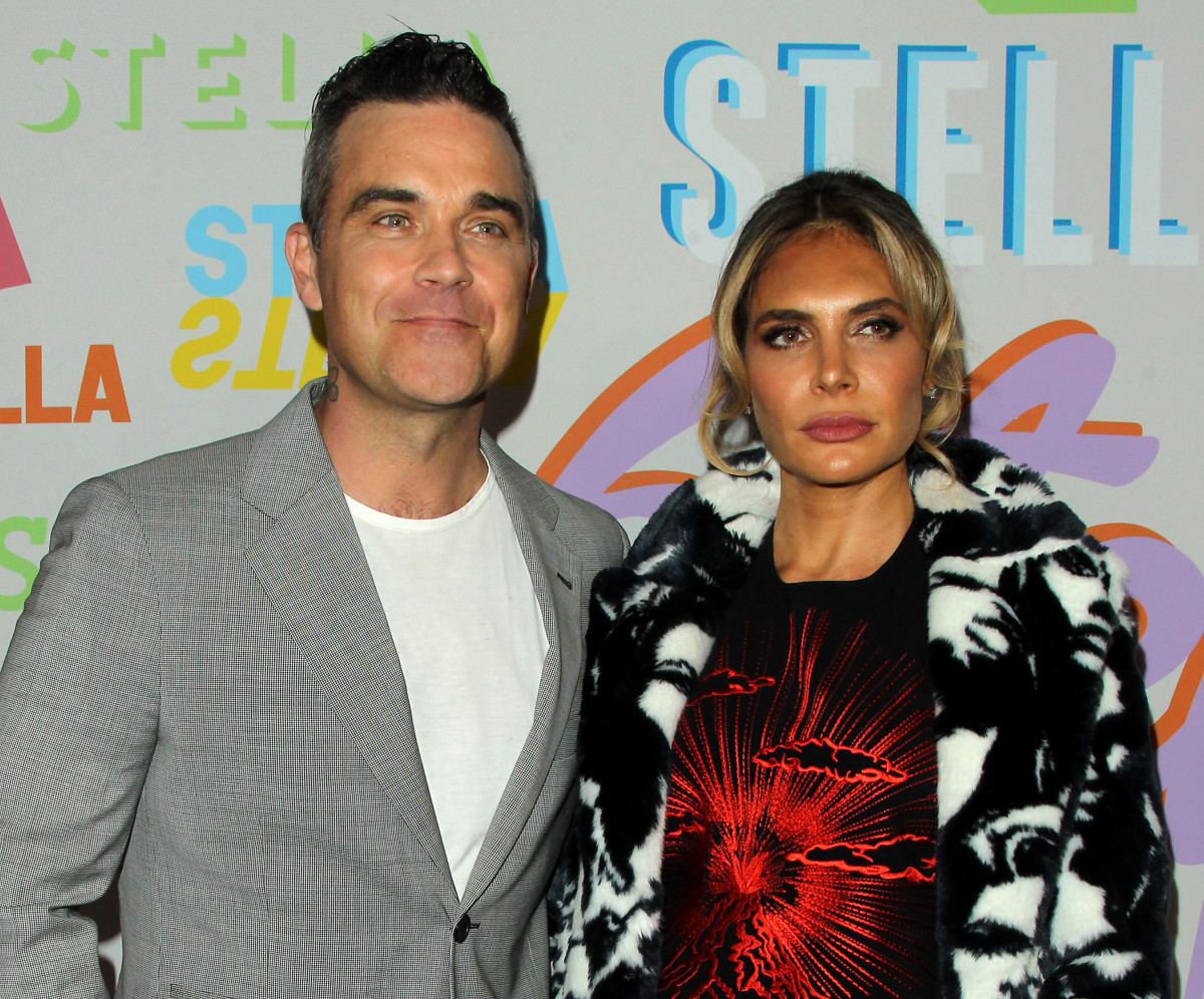Ayda Field and Robbie Williams evacuated from hotel blaze