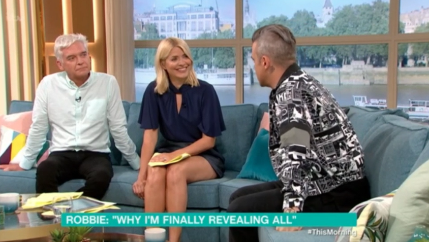 Robbie Williams on This Morning (ITV)