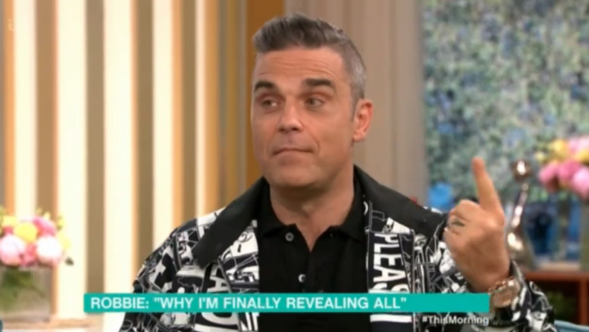 robbie Williams on This Morning (Credit: ITV)