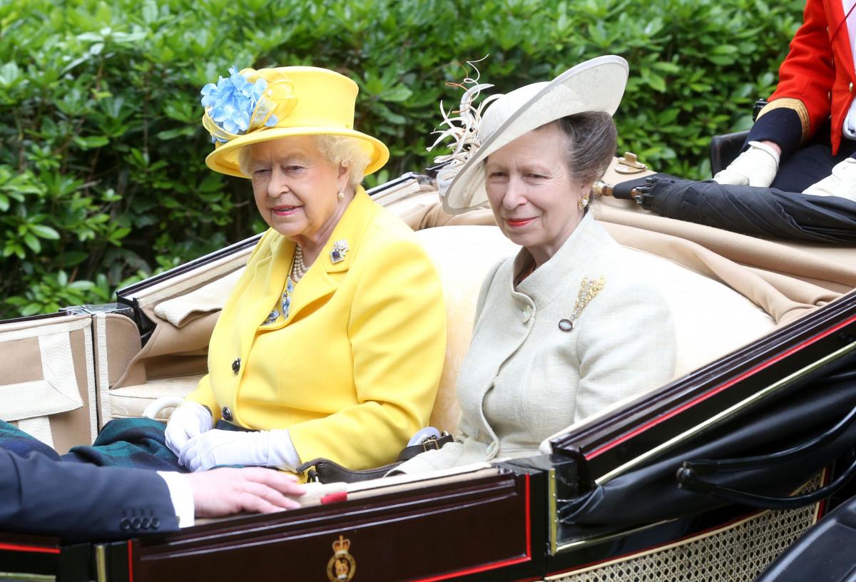 The Queen and Princess Royal at Royal Ascot