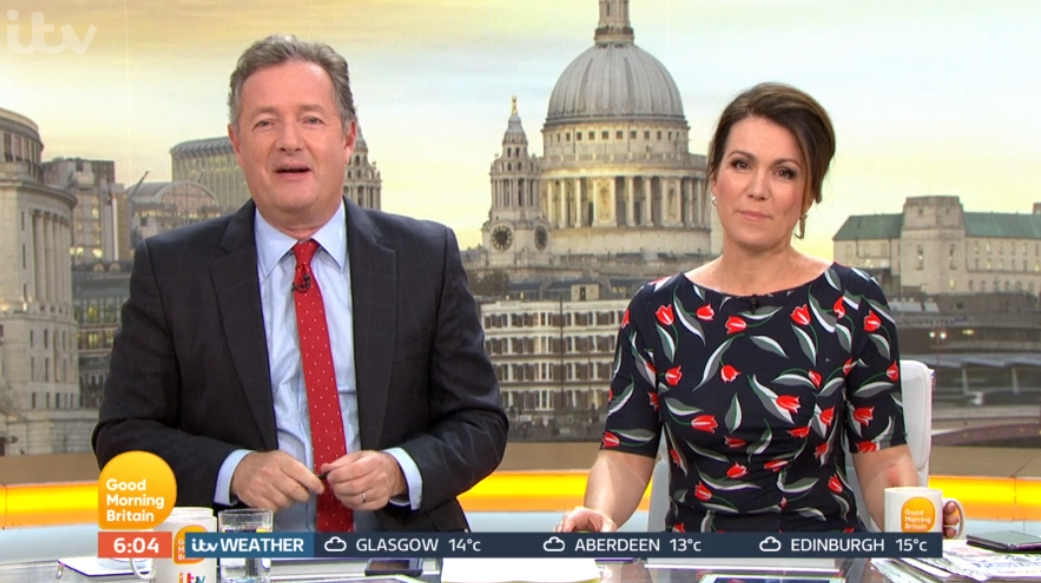 Piers Morgan reveals backstage rows with Susanna Reid