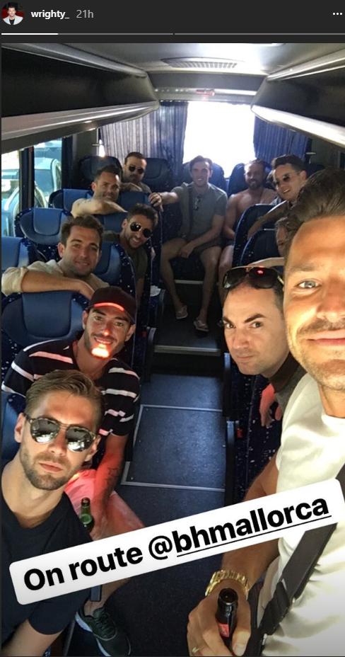 mark-wright in Majorca (Credit: Instagram)