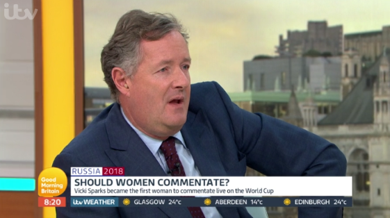 """Piers Morgan blasts GMB guest for being a """"sexist pig"""""""