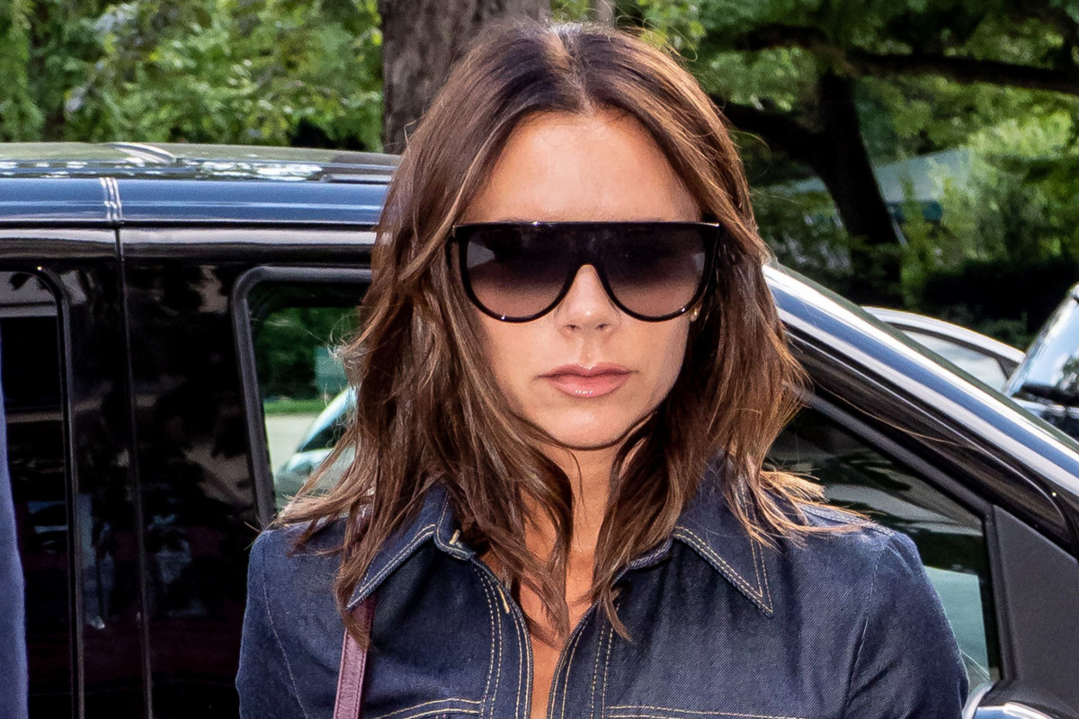 Victoria Beckham just wore this questionable denim trend