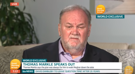 Thomas Markle on Good Morning Britain (Credit: ITV)