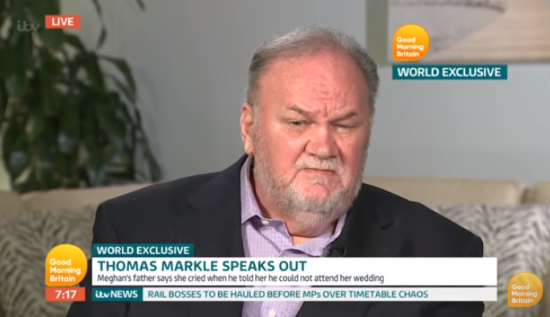 Thomas Markle on Good Morning Britain (Credit: ITV)