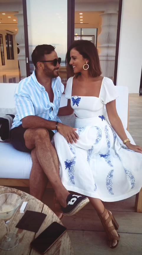 ryan-thomas-and-lucy-mecklenburgh in Mykonos