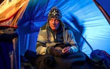 Sean Tully homeless in Coronation Street