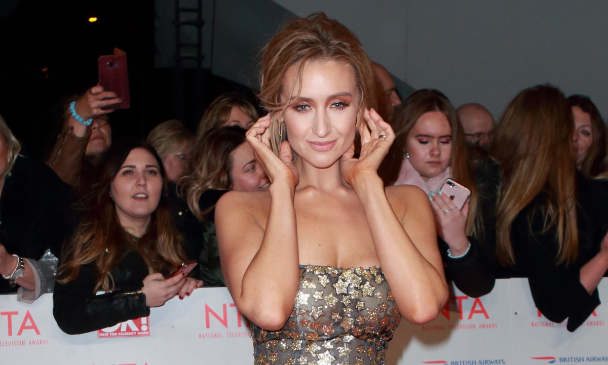 Catherine Tyldesley reveals parenting woes, as three-year-old son WEES in her handbag