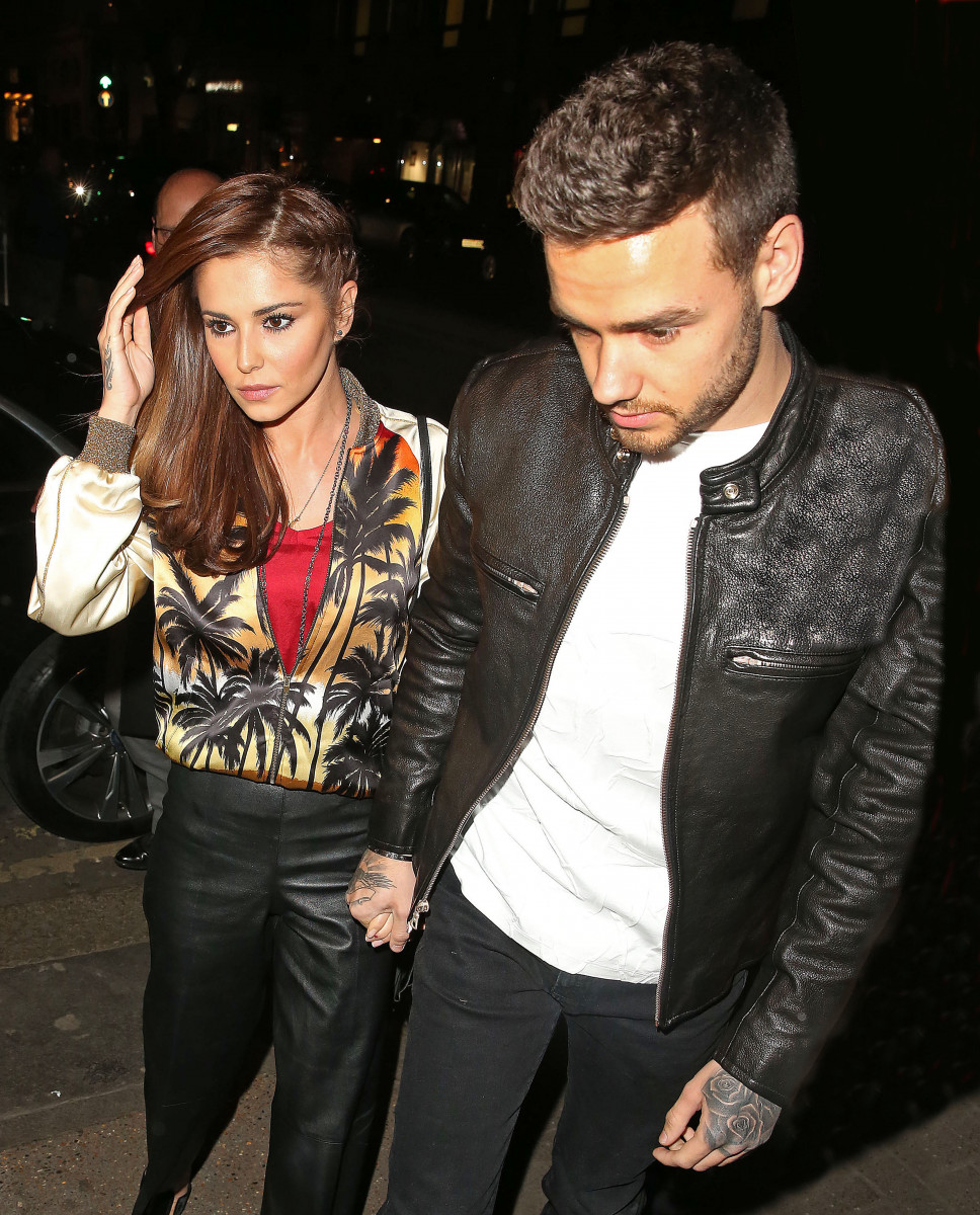 Cheryl Cole & Liam Payne arrive's at Sexy Fish restaurant in Mayfair, London.