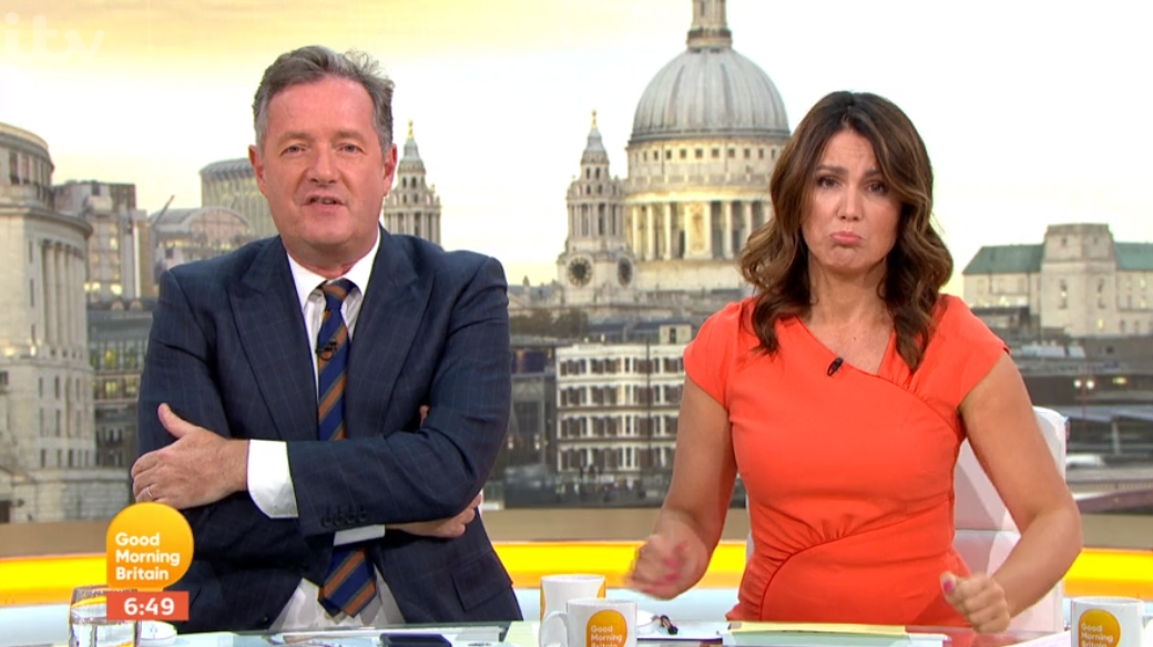 Piers Morgan pokes fun as Susanna Reid unveils sore injury