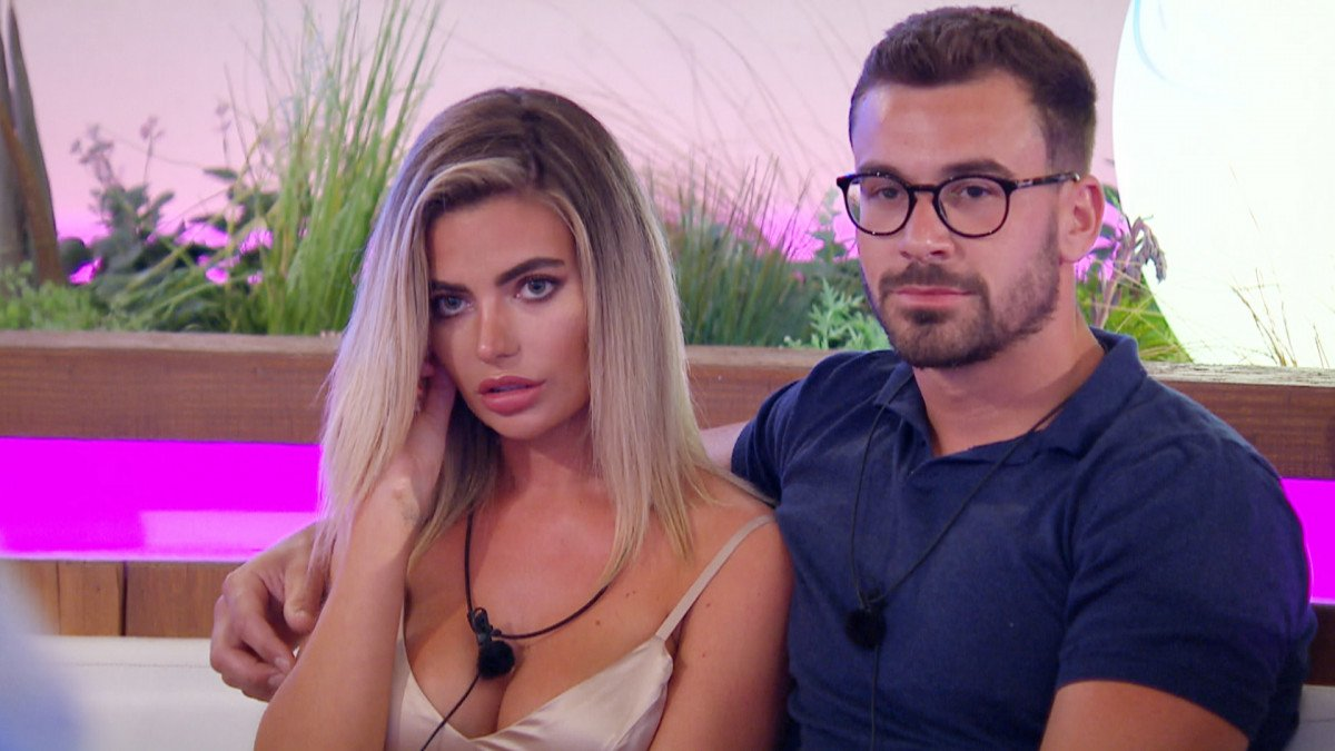 Love Island's Megan and Alex at the recoupling
