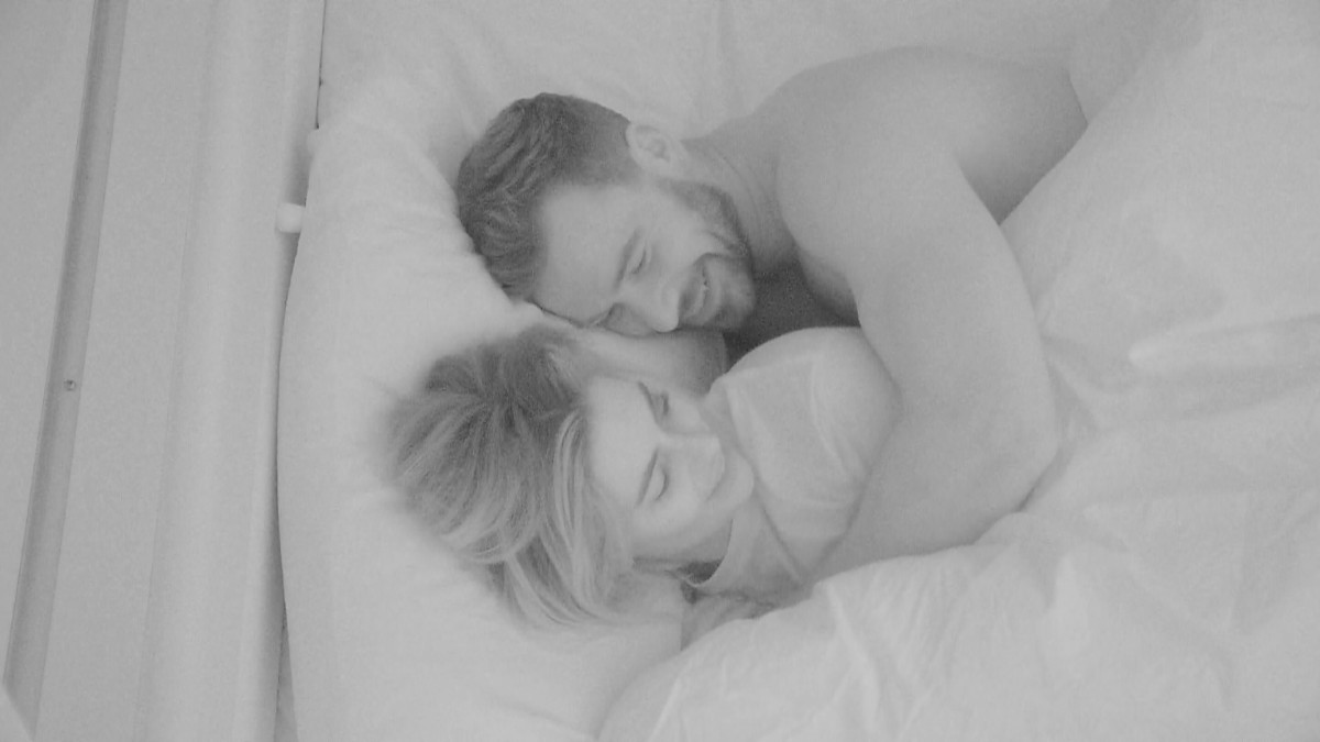 Love Island's Megan and Alex in bed together