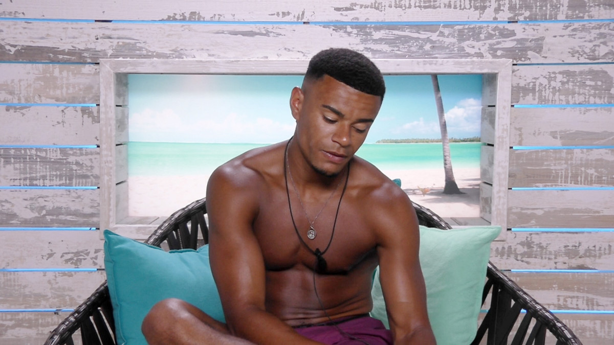 Love Island's Wes in the Beach Hut