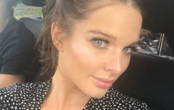 Helen Flanagan pictured just before giving birth