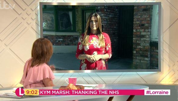 Kym Marsh appears on ITV's Lorraine on July 4