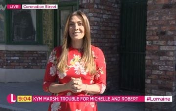 Kym Marsh appears on ITV's Lorraine on July 4