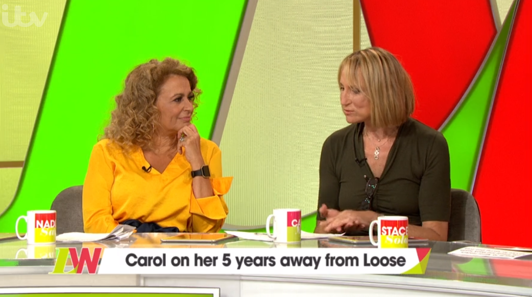 Carol McGiffin returns to Loose Women after five years