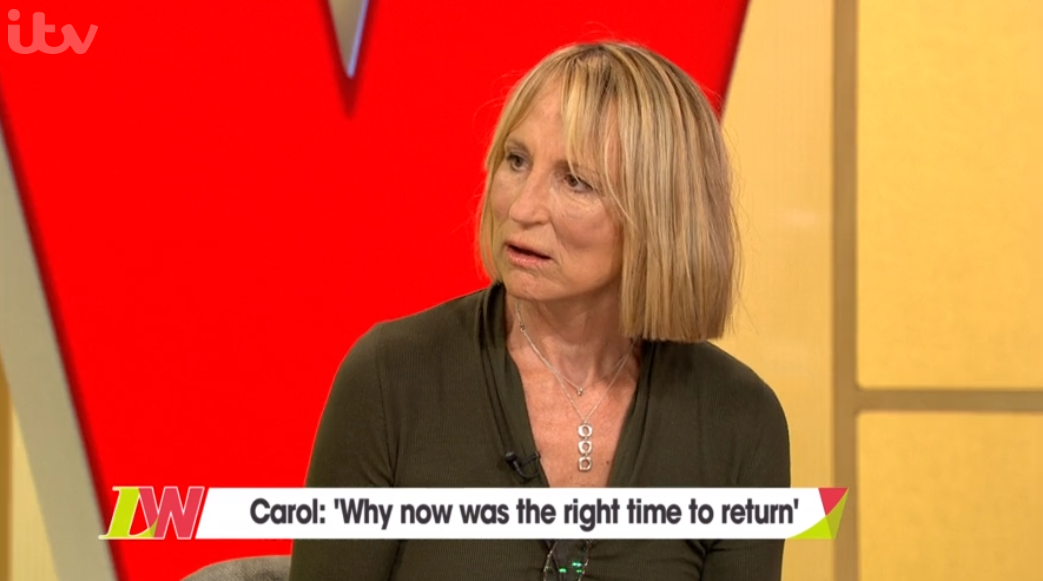 Carol McGiffin gives health update following breast cancer