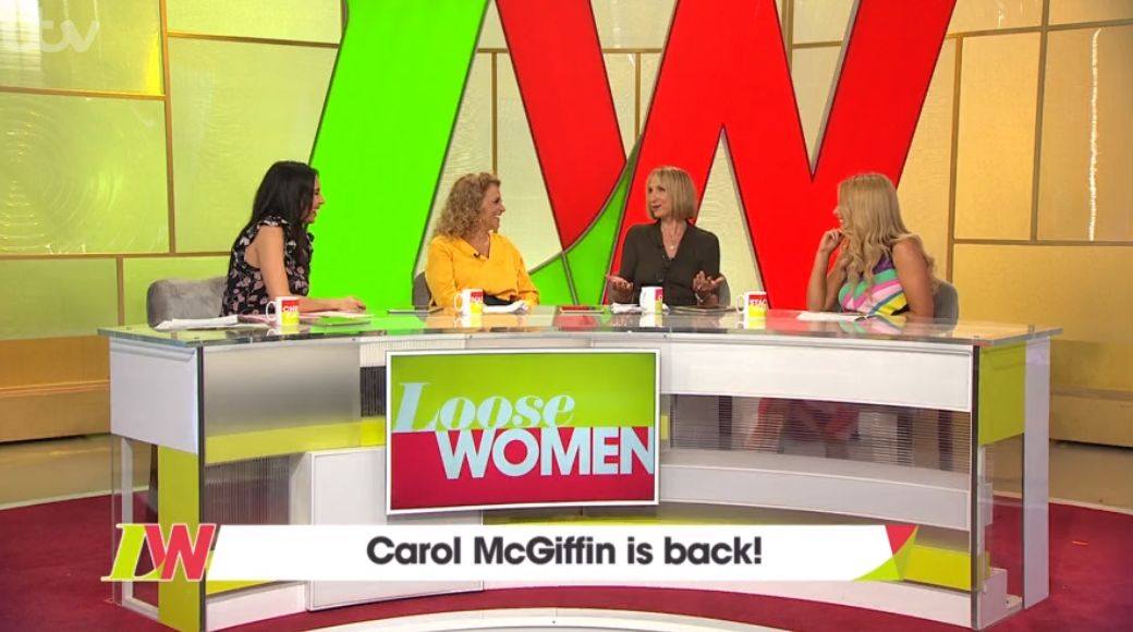 carol-mcgiffiin returns to Loose Women after 5 years