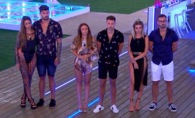 Love Island's Darylle, Adam, Ellie, Sam, Megan and Alex await dumping results