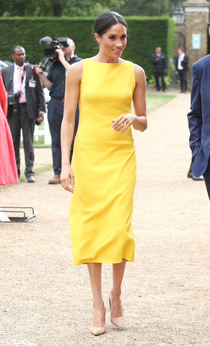 Meghan, Duchess of Sussex attends the Your Commonwealth Youth Challenge reception at Marlborough House on July 05, 2018 in London, England. (Photo by Yui Mok - WPA Pool/Getty Images)