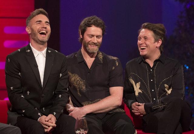 Take That's Gary Barlow, Howard Donald and Mark Owen