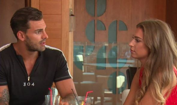 "Love Island's Adam and Zara reunite - but is there a ""storm brewing"" between them?"