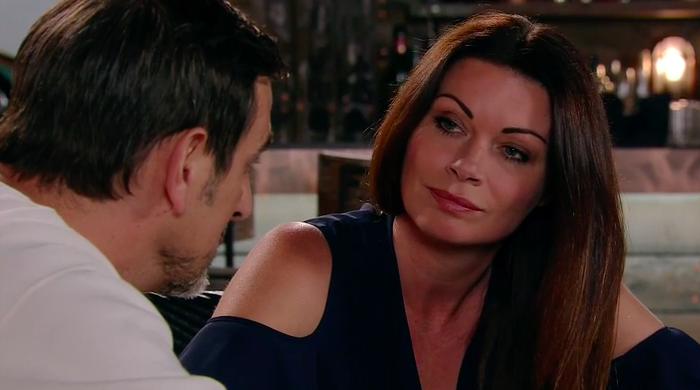 Carla Connor and Peter Barlow in Coronation Street