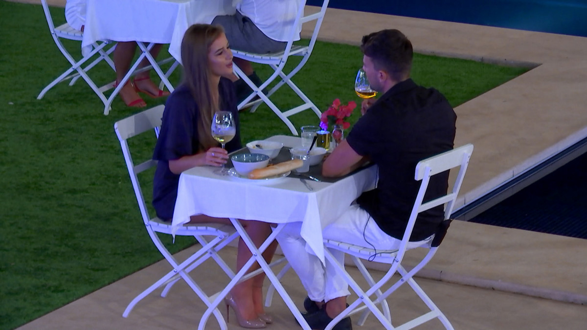 Love Island's Sam and Georgia on a date