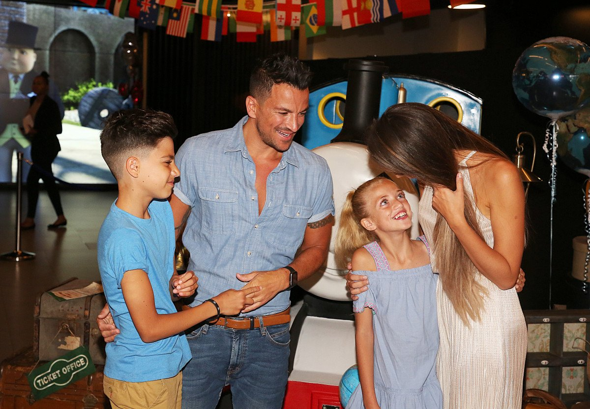 Peter and Emily Andre with Princess and Junior, in attendance at the 'Thomas & Friends' exclusive film premiere held at VUE Leicester Square in London, UK.