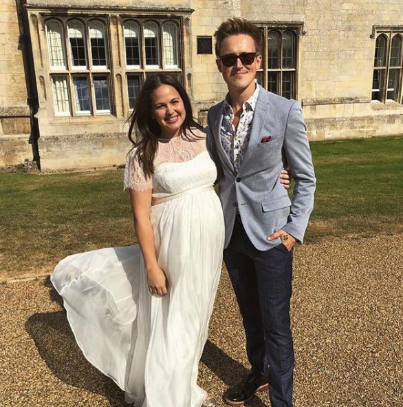tom-and-giovanna-fletcher at Emma and Matt Willis' wedding renewal party