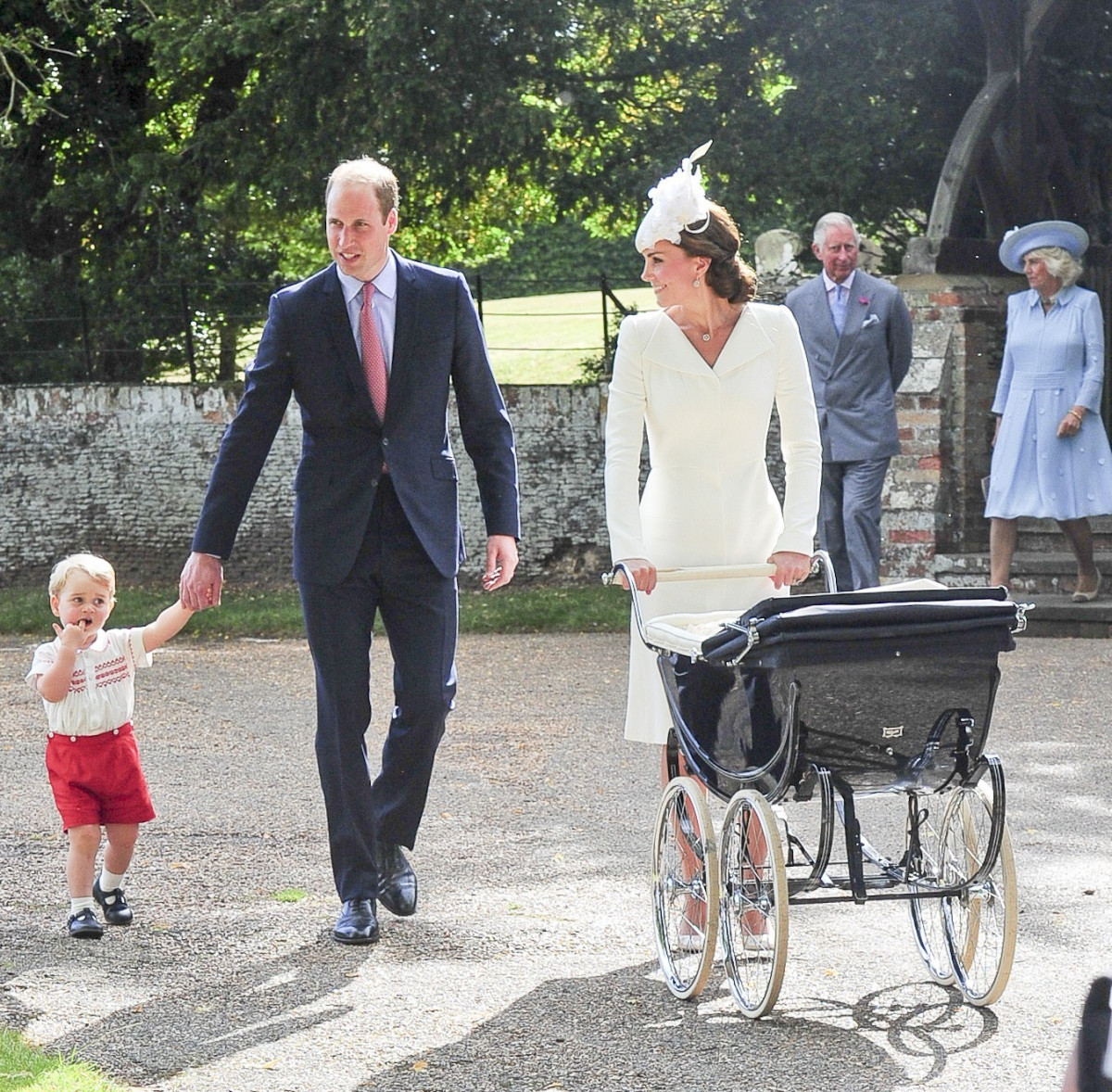 The Royal Family Attends The Christening Of Princess Charlotte In Norfolk