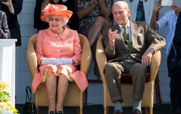 Queen Elizabeth II and Prince Philip, the Duke of Edinburgh,The Royal Windsor Cup Final 2018 at Guards Polo Club