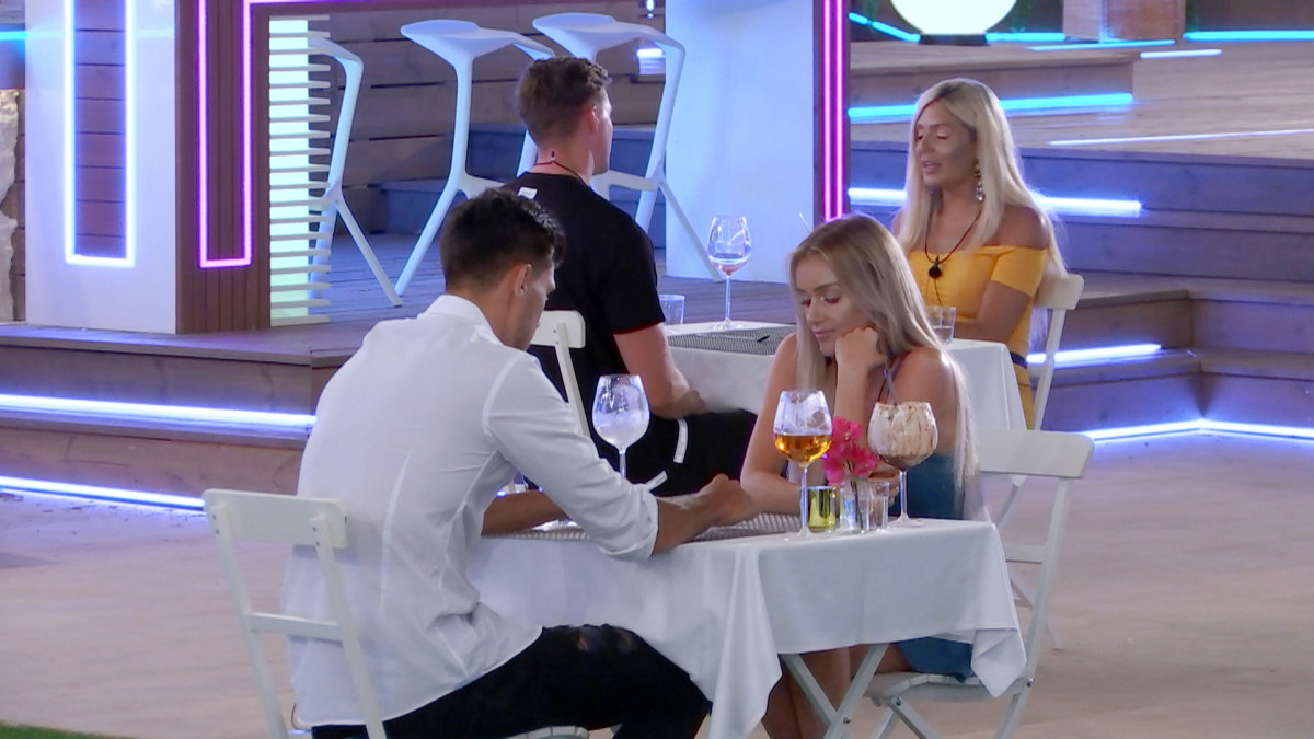 Love Island's Laura and Jack on a dinner date